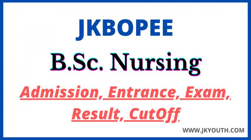 BSc Nursing JKBOPEE