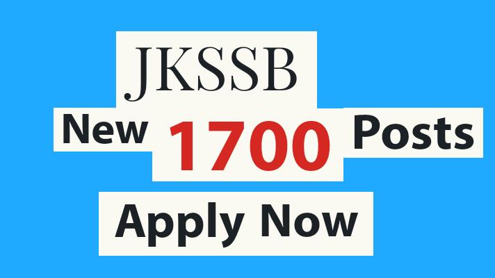 JKSSB new 1700 Posts