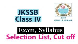 JKSSB Class IV Admit cards, Results