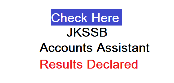 JKSSB Panchayat Account Assistant results PDF