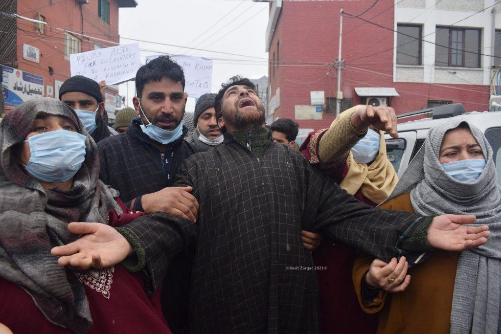 Families of Ather Mushtaq Killed in Srinagar Encounter