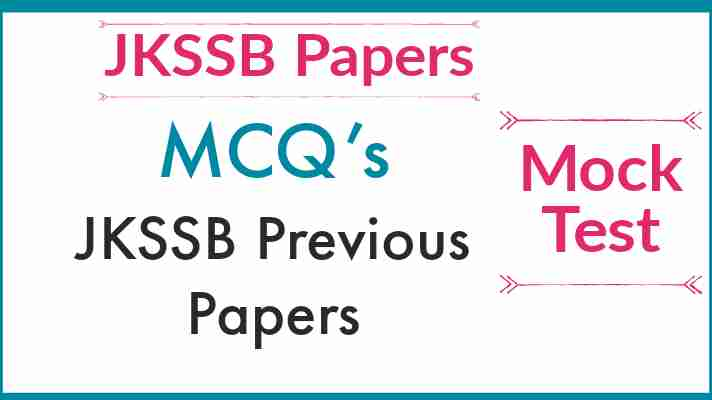 JKSSB Previous year Paper