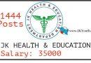 jk health department posts