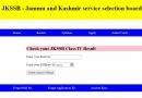 JKSSB Class IV Result