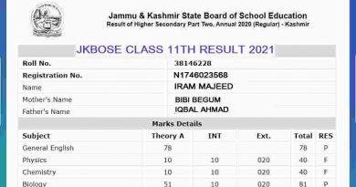 jkbose class 11th result 2021