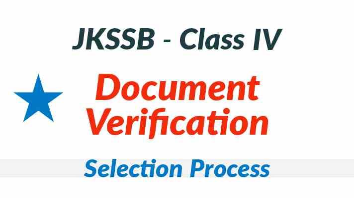 JKSSB Class IV Document Verification