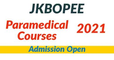 JKBOPEE Paramedical Courses