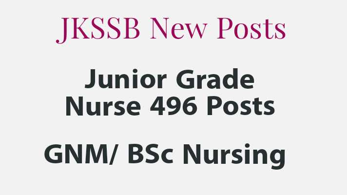 JKSSB Nurse posts
