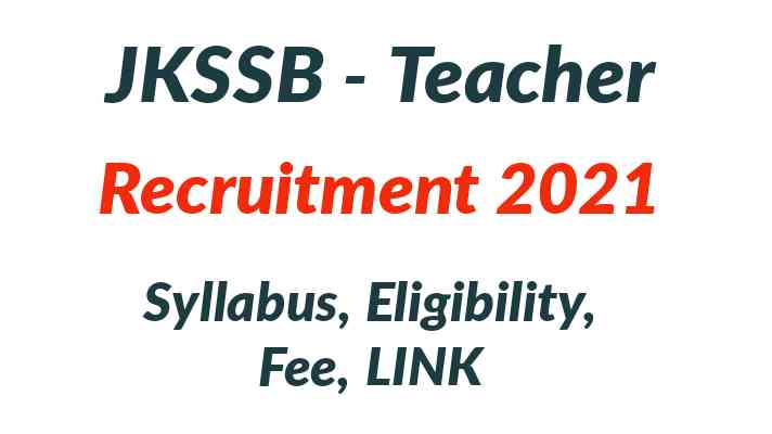 JKSSB Teacher Recruitment 2021