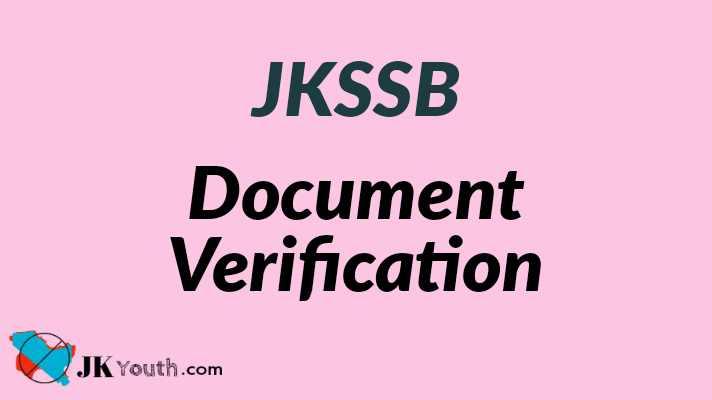 JKSSB Assistant Compiler Document Verification