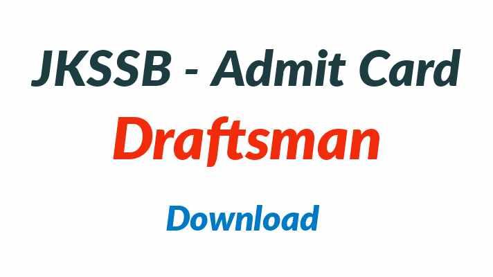 jkssb draftsman admit card