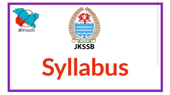 JKSSB Syllabus
