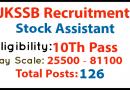 JKSSB Stock Assistant Recruitment 2021