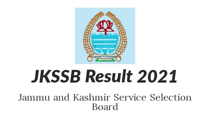 JKSSB Result 2021