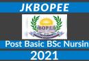 JKBOPEE Post Basic BSc Nursing Counselling 2021 update