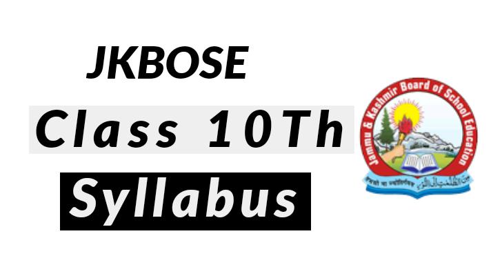 JKBOSE Class 10th Syllabus PDF