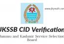 JKSSB CID Verification