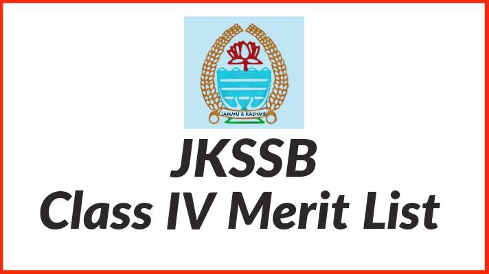 JKSSB Class IV Merit List